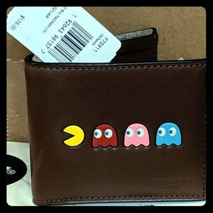 NWT Coach limited edition Pac-Man billfold wallet